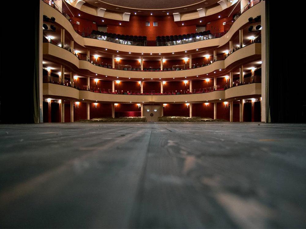 Vista dal palcoscenico del Teatro Salieri