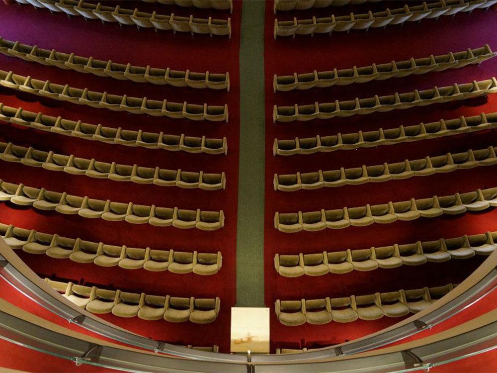 Vista della Platea dal Loggione del Teatro Salieri